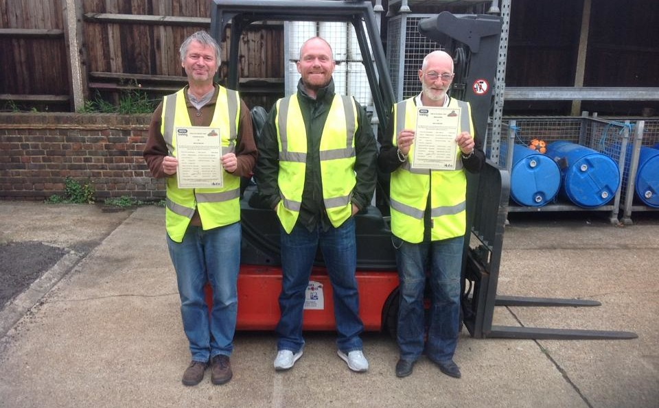 Just passed! At Swan Forklift Training