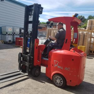 Forklift Training in action